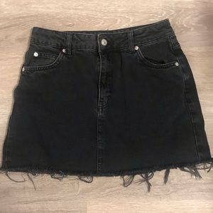Black Topshop Denim Skirt